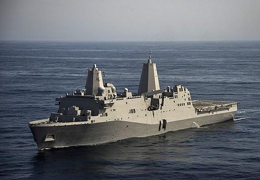 USS San Diego (LPD-22) underway in February 2014