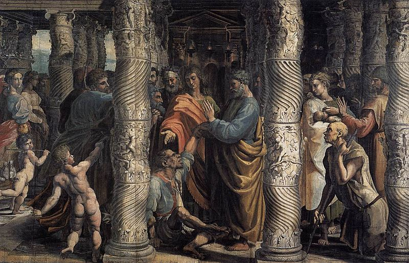 Archivo:V&A - Raphael, The Healing of the Lame Man (1515).jpg