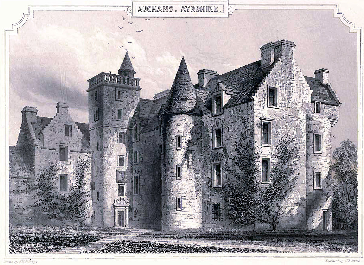 Auchans Castle Ayrshire  Wikipedia