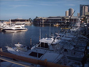 View of Bayside Marketplace looking from north...