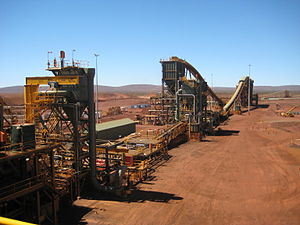 English: The plant at the Brockman 4 mine in t...