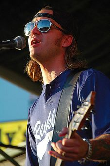 Cody Canada of Cross Canadian Ragweed at the R...