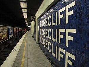 English: Edgecliff railway station.
