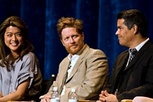 Actors Grace Park, Eric Stoltz and Esai Morale...