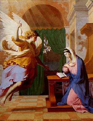 The Annunciation by Eustache Le Sueur, an exam...
