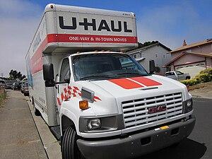 A GMC U-Haul truck