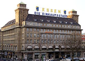 The Handelshof Hotel with modified coat of arm...