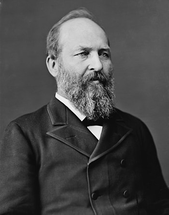 English: Pres. James Garfield