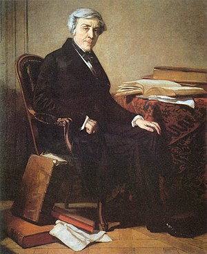 Jules Michelet, en un retrato de Thomas Couture