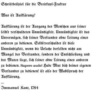 example in typeface Breitkopf-Fraktur