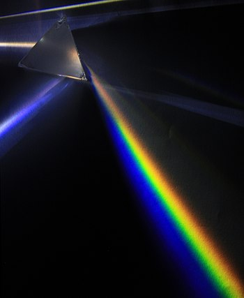 English: Light dispersion of a mercury-vapor l...