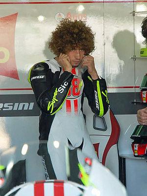 English: Marco Simoncelli 2009 Valencia ( Test...