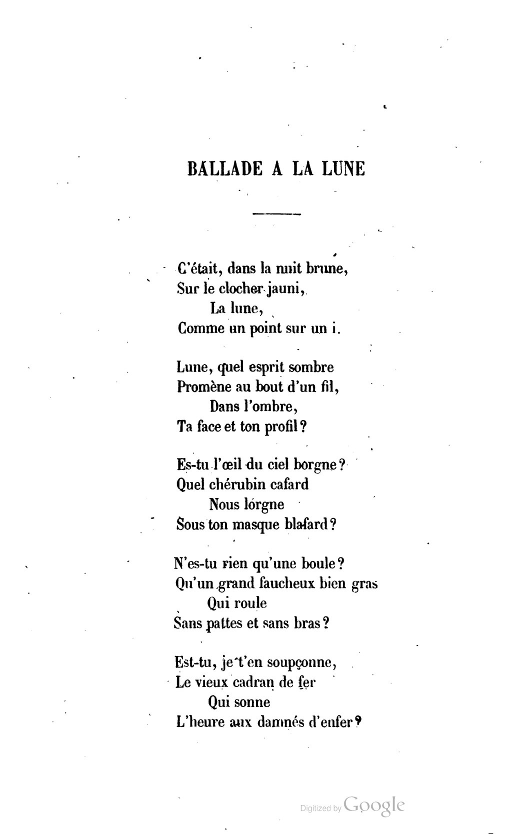 La Lune Comme Un Point Sur Un I : comme, point, Page:Musset, Premières, Poésies, Charpentier, 1863.djvu/106, Wikisource