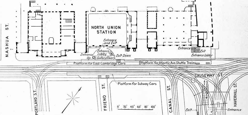 File:Plan of elevated and surface tracks at North Station