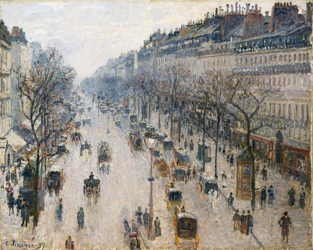 Boulevard Montmartre Series by Camille Pissarro