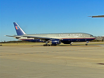 United Airlines Boeing 777 IAD