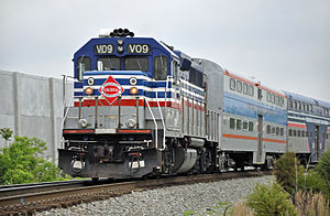 Virginia Railway Express V09 pushing to the Di...