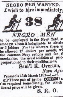 Slave labor on United States military installations 1799