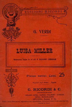 Italiano: Libretto Luisa Miller,melodramma tra...