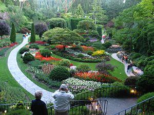 English: The Sunken Garden at Butchart Gardens...