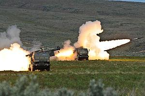 Firing High Mobility Artillery Rocket systems