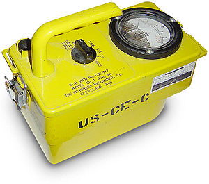 This is a Cold War era survey-meter (also know...