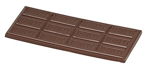 English: A regular Hershey bar, out of the pac...