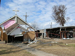 Damage to Church and building from Hurricane I...