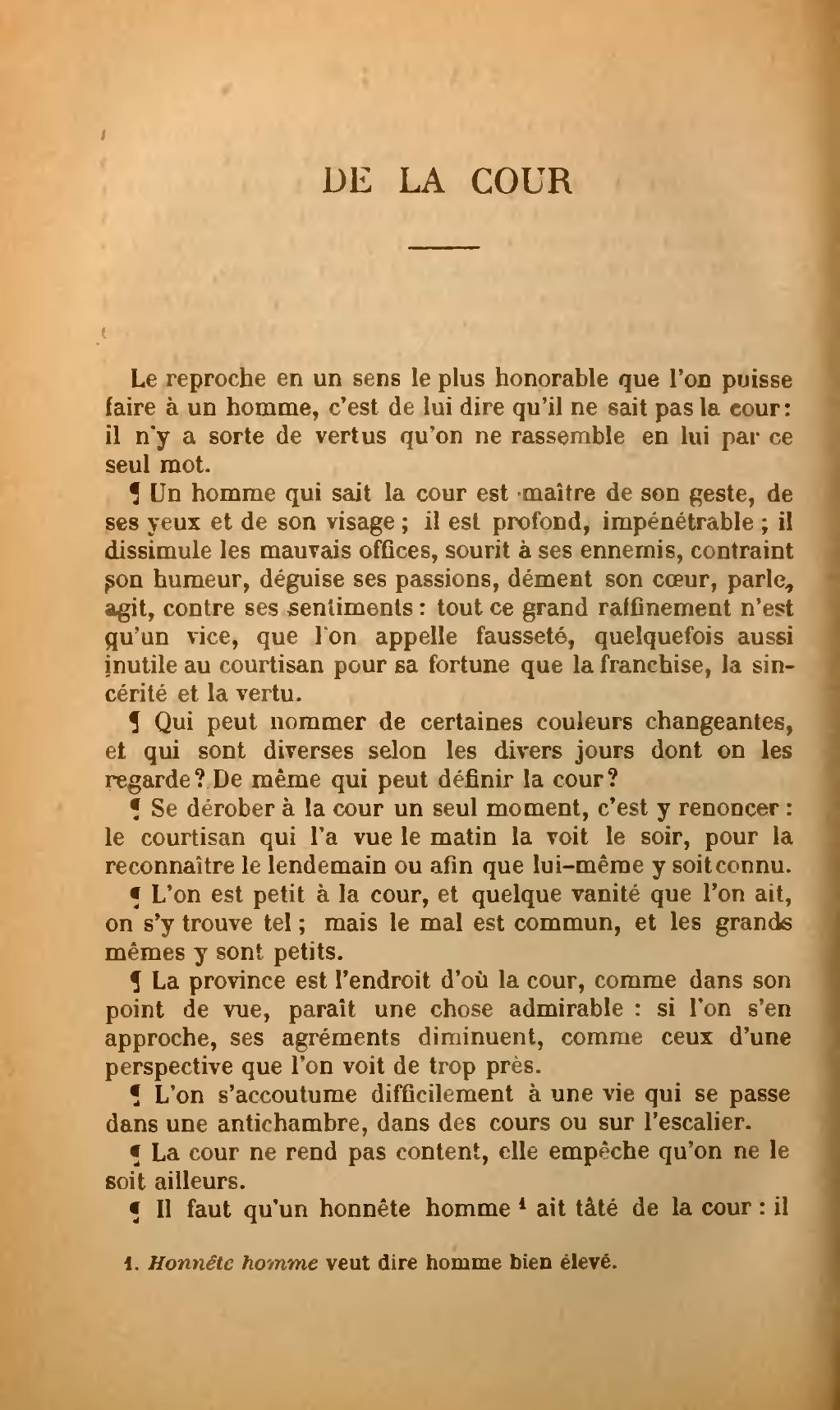 Les Caractères La Bruyère Texte : caractères, bruyère, texte, Page:La, Bruyère, Caractères,, Flammarion,, 1880.djvu/172, Wikisource