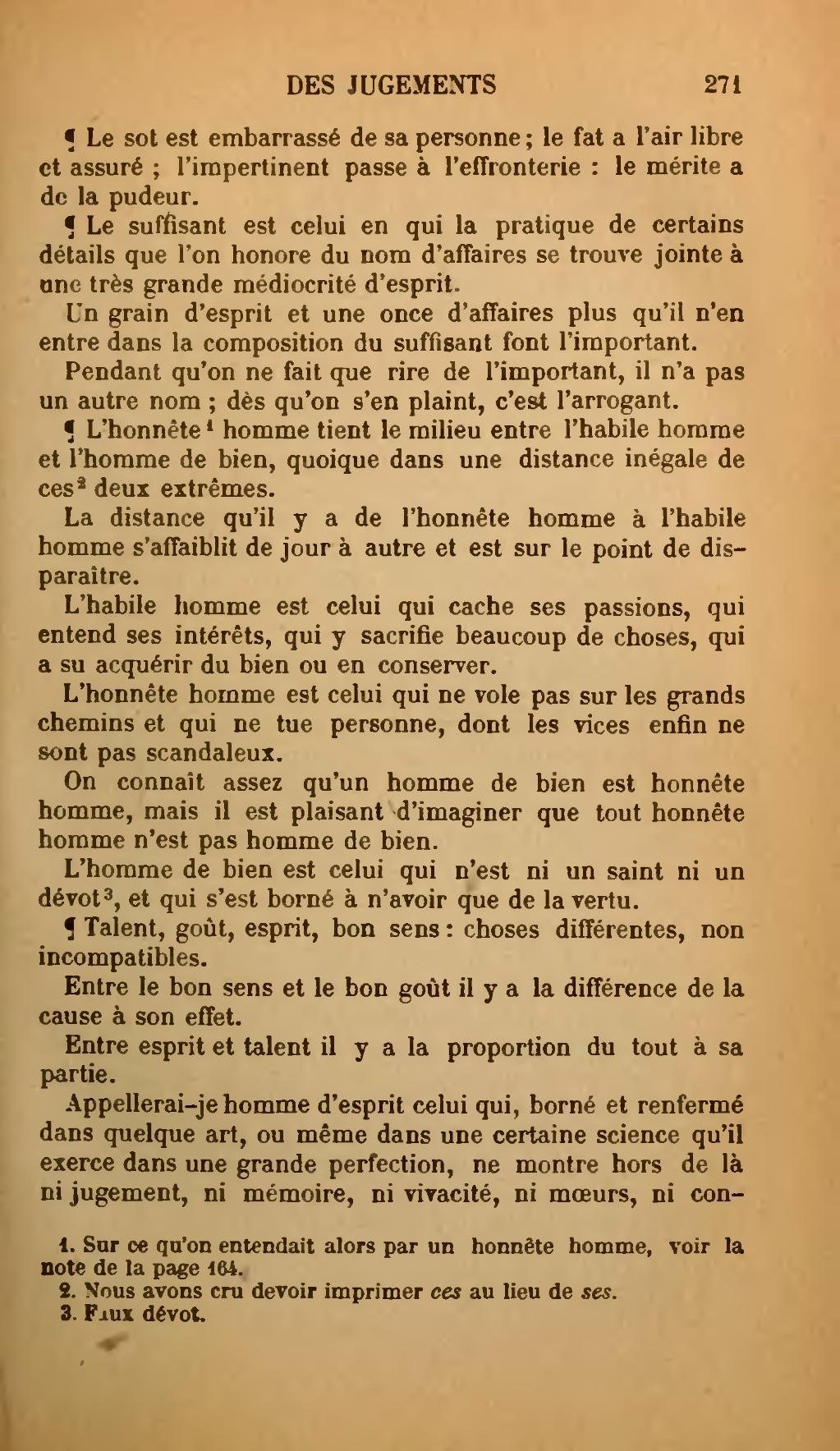 Les caractères, Jean de la Bruyère - Commentaire de texte