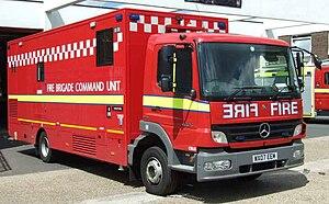 English: A London Fire Brigade command unit, w...