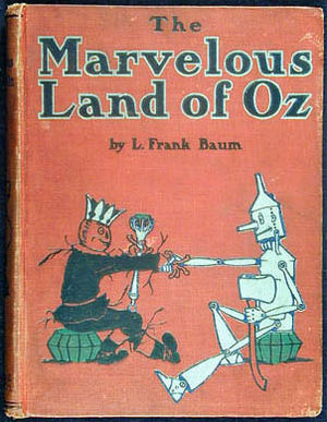 English: Book cover of The Marvelous Land of O...