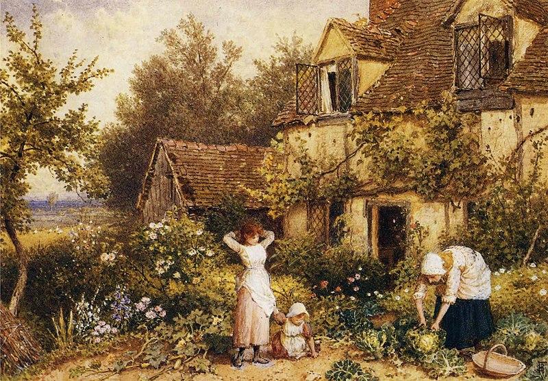 File:Myles Birket Foster - At the Cottage Door.JPG