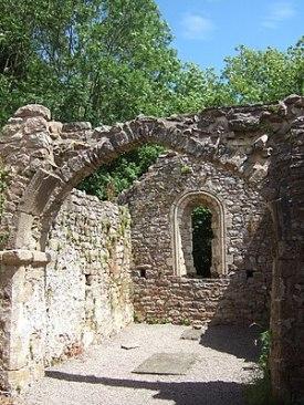 Nave of St James' church, Lancaut, Wye valley