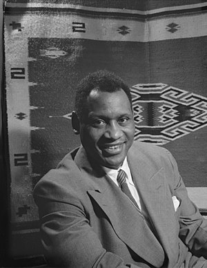 Paul Robeson,American actor, athlete, bass-bar...