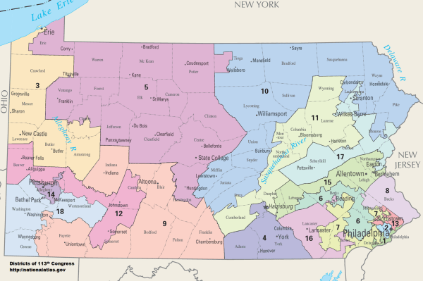 Pennsylvanias congressional districts Wikipedia
