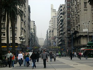 Independencia Square in Montevideo, Uruguay.