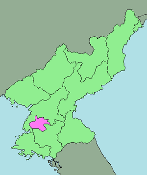 area map of Pyongyang Category:North Korea