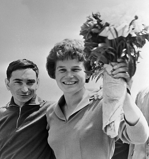 RIAN archive 15491 Valery Bykovsky and Valentina Tereshkova