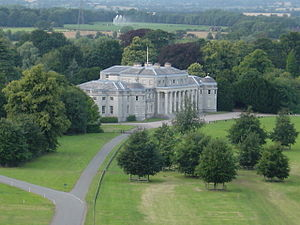 Shugborough Hall from hot air balloon