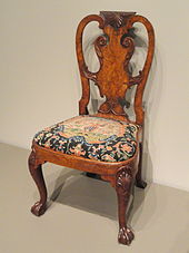 queen anne style chairs occasional table and furniture wikipedia walnut burr veneer side chair attributed to giles grendey london c 1740 art institute of chicago
