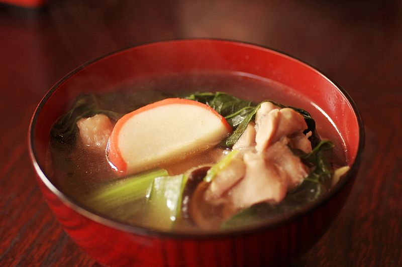 Ozoni comida japonesa típica do ano novo no japão, shogatsu