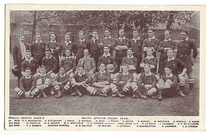 1906 'Springboks' rugby team. (south african r...