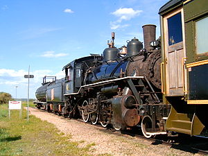 Alberta Prairie Railway, engine 41. The line r...
