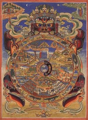 The Bhavacakra (Sanskrit; Devanagari: भवचक्र; ...