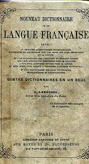 English: The cover of the first Larousse Frenc...