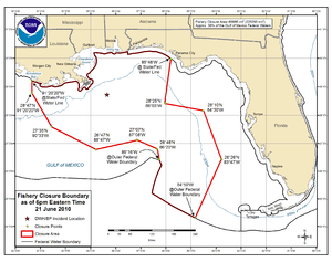 "English: Map entitled ""Fishery Closure Bo..."