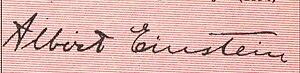 English: Albert Einstein's signature Hrvatski:...