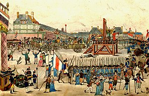 The execution of Robespierre and his supporter...