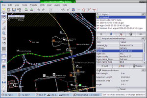 Screenshot of JOSM displaying OpenStreetMap da...